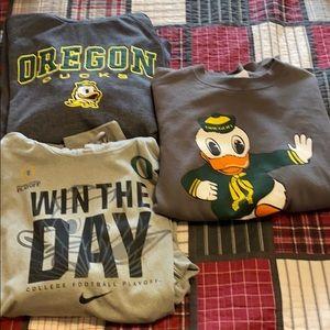 Oregon Duck Combo 2 hoodies and 1 crew XL